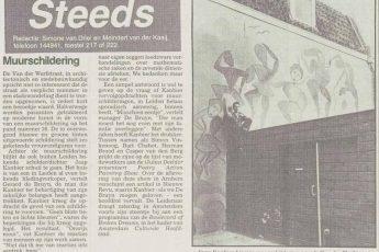 Interview met Jacob Kanbier over zijn muurschildering in Leiden, Leidsch Dagblad 09-09-1987